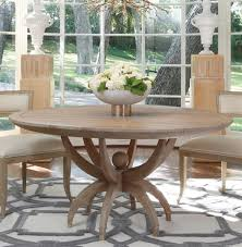 atticus coastal beach white oak contemporary round dining table kathy kuo home view full size