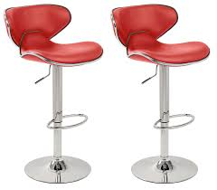kitchen bar chairs. Set Of 2 Red \u0026 Chrome Bahama Kitchen / Bar Stools. (Pair): Amazon.co.uk: Home Chairs A