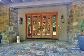 jeld wen front doorsContemporary Front Door with exterior tile floors in Saddle River
