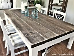 like the colors of this table for our farmhouse table white on bottom washed diy dining room