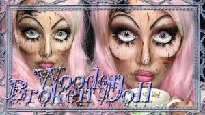 wooden broken doll makeup tutorial