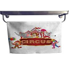 circus decor extra wide bathroom accessories cute happy fun trained circus animals with nostalgic tent carnival party show art luxury hand towels set w 12