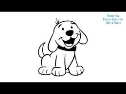 Small Picture How to Draw a Dog Simple easy Drawing Puppy cartoon YouTube