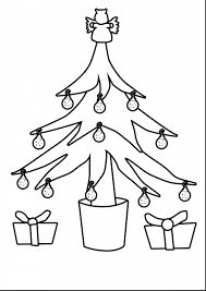 Small Picture Terrific christmas tree outline drawing with tree coloring page