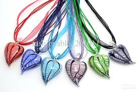 whole mixed color cute love heart shape hot pepper glass pendant silk cord necklace jewelry erfly whole glass pendants