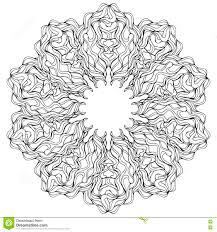 Carta Di Vettore Della Mandala Su Fondo Bianco Pagina Del Libro Da