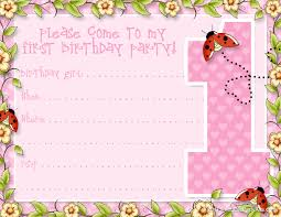 1st birthday invitations template free birthday invitations