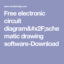 free electronic circuit diagram schematic drawing software electronic schematics pdf at Free Electronics Diagrams