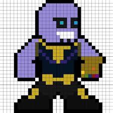 8 bit super heros pixel art avengers marvel thanos avengers infinity war perler bead pattern