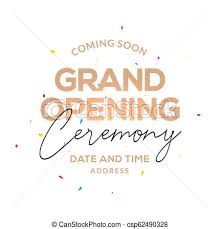 Ceremony Template Grand Opening Ceremony Poster Concept Invitation Grand Opening Event Decoration Party Template