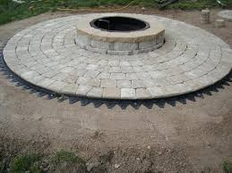 circle pavers how to install cobble circle with circle fire pit circle fire pit tri circle circle pavers