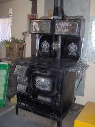 1875 majestic 644 antique wood burning stove cast iron with