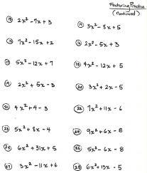 grade 9 polynomials worksheet fresh 9th grade factoring worksheets math solving linear equations year 9