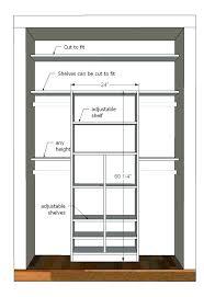 minimum width for walk in closet design dimensions