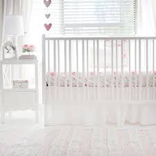 white ruffle linen crib skirt nostalgic rose collection tap to expand