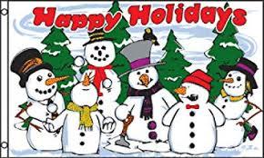 Holidays Snowman Amazon Com Happy Holidays Snowmen Polyester Flag 3 X 5