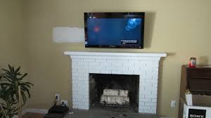best fireplace mantel design by mounting tv above fireplace