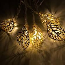 solar string lights. Delighful Lights OJA 12 LED 12ft 37m Tree Leaf Solar String Lights Metal Ornament  For With M