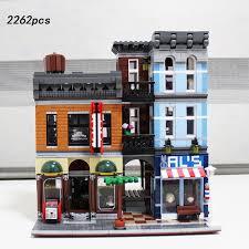 lego office building. Hor Creators City Street View Detective Office Building Block Figures Barber Shop Model Bricks 10246 Toys Lego