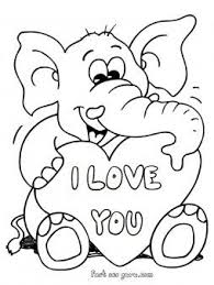 418f756ae3bab0f2e7d1aac2ce523580 printable valentines day teddy elephant card coloring pages free on love cards for him printable free