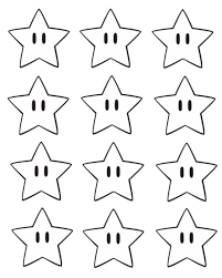 printable star super mario bros printable star confetti hello splendid