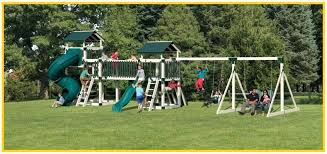 outdoor swing sets small swing sets for small yards canada