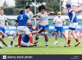 Giada Franco che cerca di rompere il placcaggio during ITALIA VS FRANCIA -  SEI NAZIONI FEMMINILE, Padova, Italy, 17 Mar 2019, Rugby Nazionale Italiana  Stock Photo - Alamy