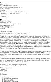 How To Write A Cover Letter For Audit Job Application Adriangatton Com
