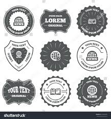 symbol for literature the r word has no place in literature  vintage emblems labels news icons world stock vector vintage emblems labels news icons world globe symbols