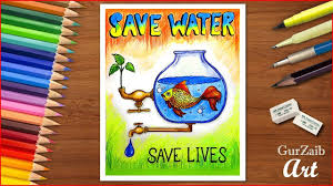 Myvideo Charts How To Draw Save Water Poster Chart For School Students
