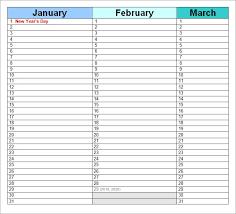 Perpetual Calendar Template Excel Perpetual Calendar Template As