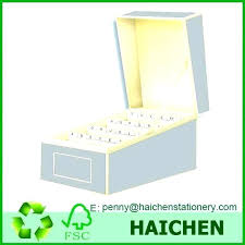 Business Card File Box Index Card File Business Card File Index