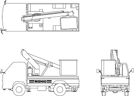 建設機械イラスト集高所作業車トラック式 西尾レントオール