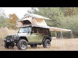 Jeep Wrangler With Arb Roof Top Tent And Aev Rack Mount Combo Plus How To Open Youtube Srt Jeep Jeep Camping Jeep Art