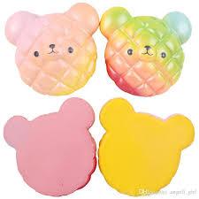2018 New Rainbow Bear Pineapple Cake Bread Squishy Kawaii Cute Slow