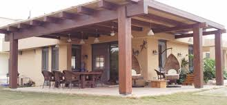 wood patio cover ideas. Wood Patio Covering Ideas With Armed Chairs Rectangle Table Under Pendant Lamps Cover