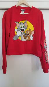 TOM AND JERRY Red Cropped Sweatshirt XL | Fashion baby girl outfits, Nasa  clothes, Pullover sweater women