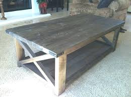 reclaimed wood coffee table diy top glass zinc strap square