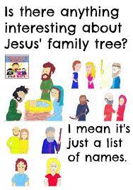 Church Genealogy Jesus Genealogy Lesson Childrens Church Ideas Jesus