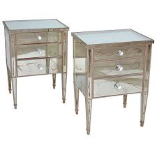 distressed mirrored furniture. Distressed Mirrored Nightstand Antique Small 3 Drawer High Hd Wallpaper Pictures Furniture