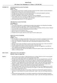 Service / Sales Engineer Resume Samples | Velvet Jobs