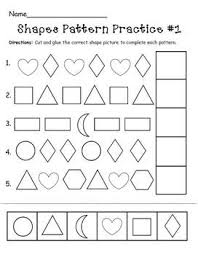 Pattern Activities For Preschoolers Simple Free Printable Preschool Pattern Worksheets 48 Myscres