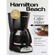 I like that it takes time to drip through the cone shape filter. Hamilton Beach Coffeemaker Programmable 12 Cup Capacity 1 Each Instacart