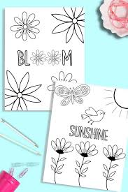 It may also be a good idea to print a few pictures and color them in the open air. Printable Flower Coloring Pages Just What We Eat