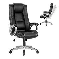 computer chair back. Brilliant Back LANGRIA HighBack Executive Office Chair Black Faux Leather Computer Chair  Modern And Ergonomic Design WellPadded Armrests Adjustable Seat Height  For Back E