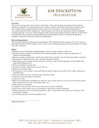 house keeping resume