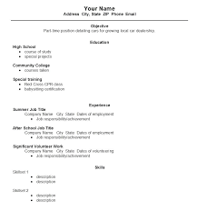 Samples Of Resume For Students College Resume Format For High School