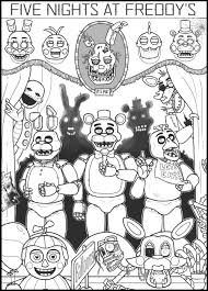 Pin By Coloring Book Zone On Coloring Parties Fnaf Coloring Pages