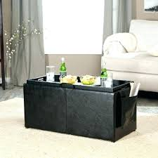 coffee table with ottoman storage coffee table side table ottoman leather coffee storage ottomans side table