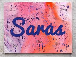 we ll design the birthday child s name image for reference only actual design may vary on a full sized canvas beforehand so the guests at the party can